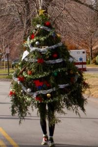 Christmas tree fancy dress runner